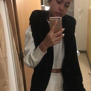Faux fur soft vest